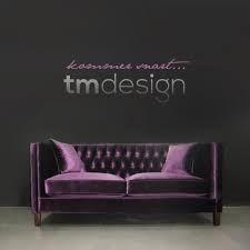 Gorgeous sexy, purple velvet couch! Maison Malou LOVES it!