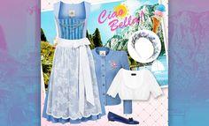 Ciao Bella! Blaue Dirndl-Grüße vom Gardasee