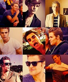 Paul Wesley with funny faces