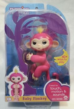 2017 WooWee FINGERLINGS Bella Interactive Pink Monkey Finger Toy Model 3705 | Toys & Hobbies, Electronic, Battery & Wind-Up, Electronic & Interactive | eBay!