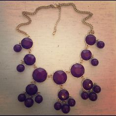 Purple Bauble Necklace Purple Bauble Necklace... NWOT from boutique. Jewelry Necklaces