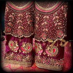 Wedding Saree Blouse Designs, Half Saree Designs, Pattu Saree Blouse Designs, Blouse Designs Silk, Designer Blouse Patterns, Wedding Blouses, Hand Work Design, Maggam Work Designs, Embroidery Designs