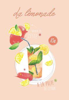 COUCKE - Torchon La Limonade pour la décoration de la cuisine
