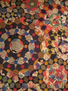 Detail of millefiori quilt by Dutch quilter Willyne Hammerstein