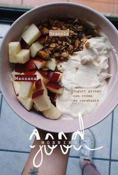 Good Food, Yummy Food, Tasty, Healthy Snacks, Healthy Eating, Food Goals, Breakfast Bowls, Aesthetic Food, Food To Make