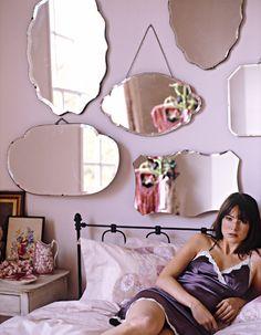 Mirror Grouping as Wall Art / Sarah Kaye Representation: Pollr Wreford