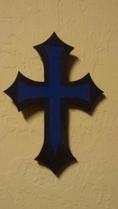 Thin blue line cross my hubby made #lovemyleo