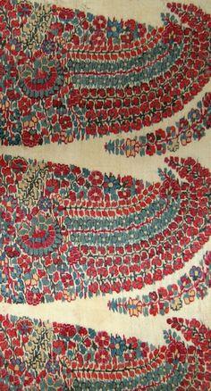A 18th Century Indian Mughal Kashmir shawl fragment…