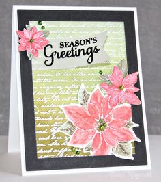 Stamping with Distress Markers