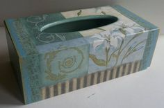 wooden tissue box cover by PtahArtGallery on Etsy, €32.00