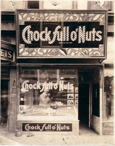 Chock full o'Nuts first restaurant. Times Square. Broadway and W43rd Street, opened in 1926.