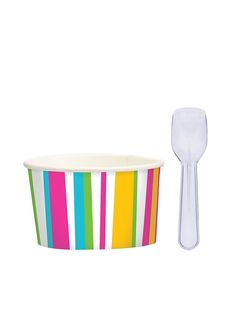 Ice Cream Cups and Spoons Set - Party Accessories & Individual Party Supplies