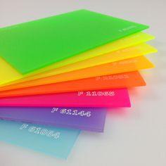 """Linha """"F"""" - Fluorescentes - Chapas Fluor Translucidas"""
