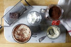 Decadent hot cocoa mix ~ with fixings of choice !!  Sisters!! This is WAY better than the stuff we used to make ...but definitely nostalgic !