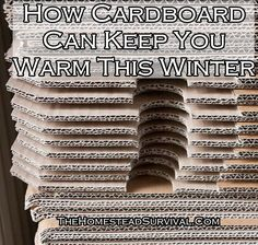 How Cardboard Can Keep You Warm This Winter Homesteading  - The Homestead Survival .Com
