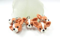 Chihuahua Stitch markers set of 5 polymer clay dog by beadpassion, $10.00...THOR!