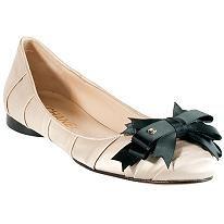 Chanel pleated satin ballet flats