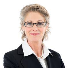women Mature glasses older