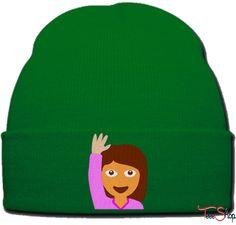 EMOJI GIRL beanie knit hat
