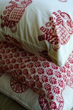 Cotton Hand Block-Printed Throw Pillows