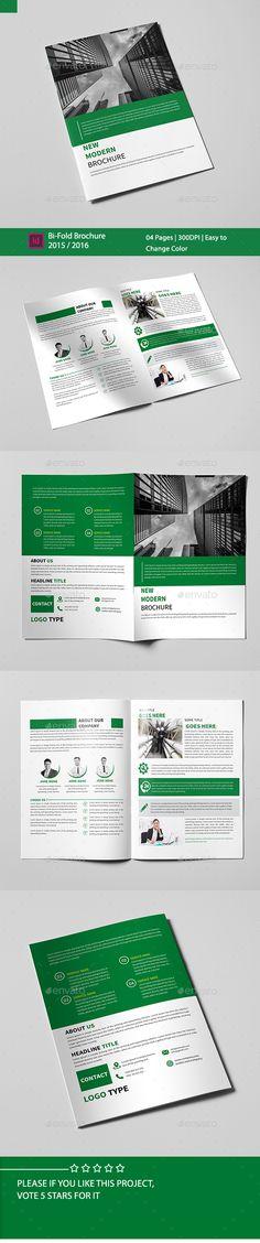 Corporate Bi-fold Brochure Template PSD #design Download