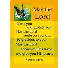 May the Lord Bless you  friendship card.