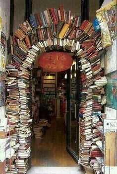 """Le Bal des Ardents"" in Lyon (Rue Neuve). A bookstore entrance in Lyon, France I Love Books, My Books, Read Books, Book Arch, Lyon France, Paris France, France Photos, Design Blog, Rhone"