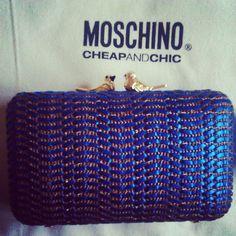 Photo by elisavavu #moschino #cheapandchic #blue #mymoschino #handbag