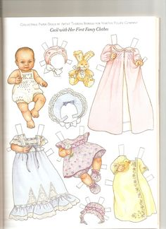 baby shower paper doll