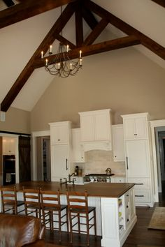 manchester tan is one of the best beige or neutral paint colours with white cabinets