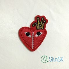 Latest fancy embroidered clothing patches stick on cloth crown red heart badges patches for clothes Clothing Patches, Embroidered Clothes, Badges, Fancy, Crown, Embroidery, Heart, Corona
