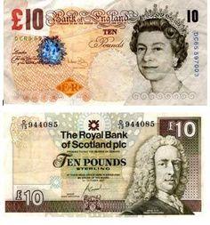 Billetes y monedas en Inglaterra - Aulainglés