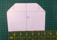 How to draft your own pattern to make a metal frame purse - Guthrie & Ghani