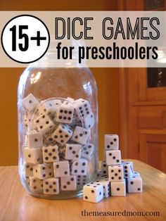 Socioemotional - Dice games to practice their social skill with other kids while also practicing their math skills.