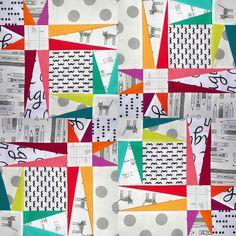 "Kylie Kelsheimer on Instagram: ""New free block pattern download & short tutorial! SewKylie.com #starryskyblock #sewkylie #cottonandsteel #konasolids"""