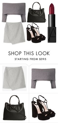 """Outing"" by izzy-maddi ❤ liked on Polyvore featuring Carven, Dorothee Schumacher, Prada, Miu Miu and NARS Cosmetics"