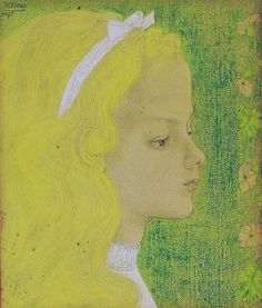 Child portrait, Jan Toorop. (1858 - 1928)