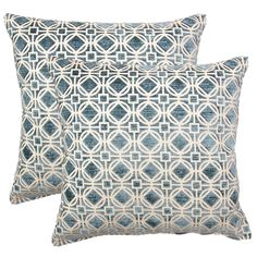 Ramses Teal 17-in Throw Pillows (Set of 2) - Overstock™ Shopping - Great Deals on Throw Pillows
