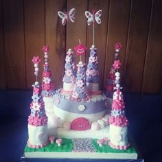 My 1st ever fondant cake I made for our daughter's 3rd birthday party