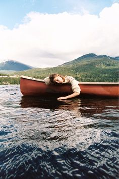 Canoe. This just makes me happy. Nothing is more relaxing then being in a canoe, even when you're paddling hard.