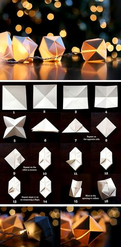 the-small-garden-origami-lanterns.  These are really easy to make.