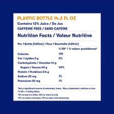 Orangina Glass Bottle Nutrition Facts - Canada Orange Peel, Orange Juice, Mandarin Juice, Valeur Nutritive, Nutrition, Grapefruit Juice, Beverages, Drinks, Calories