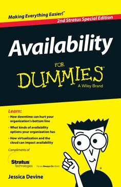 Availability for Dummies by Larry Zimbler via slideshare