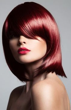 30 Stunning Colors Maroon Hair You Should Know - Page 9 of 16 Hair Color For Warm Skin Tones, Color Your Hair, Red Hair Color, Blue And Red Hair, Bright Red Hair, Maroon Hair Colors, Hair Dye Colors, Medium Auburn Hair, Auburn Hair Balayage