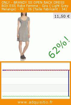 ONLY - BRANDY SS OPEN BACK DRESS BOX ESS Robe Femme - Gris ( Light Grey Melange) - FR : 36 (Taille fabricant : 34) (Vêtements). Réduction de 62%! Prix actuel 11,50 €, l'ancien prix était de 29,95 €. https://www.adquisitio.fr/only/brandy-ss-open-back-dress-1