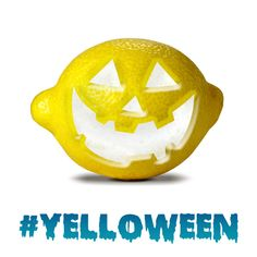 Carved pumpkins are so last year. Carved lemons are what's hot. #Yelloween