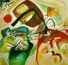 Picture with a black arch -  Wassily Kandinsky