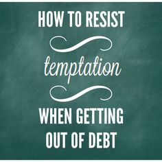 Ideas to help you combat the temptation to spend on unimportant things when you have a higher goal in mind - getting debt free! Have you paid off debt or are you working to pay off debt? What are your spending temptations, and what are your tricks to combat them? We'd love to hear 'em!