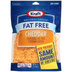 Kraft Natural Cheese Shredded Fat Free Cheddar Cheese, 7 oz