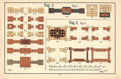 Plans for Richter's Anchor Stone Building Set No. 8, via Flickr.